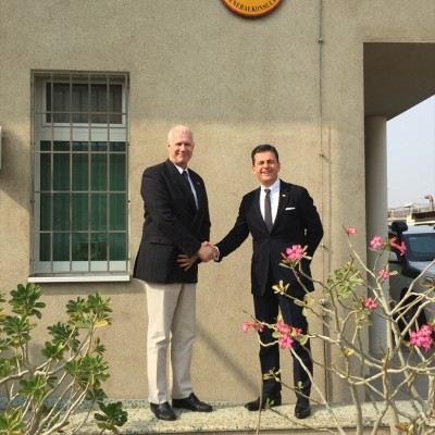 Consul Dr. Poetis with Rainer Schmiedchen, Consul General of the Federal Republic of Germany in Karachi – January 2016