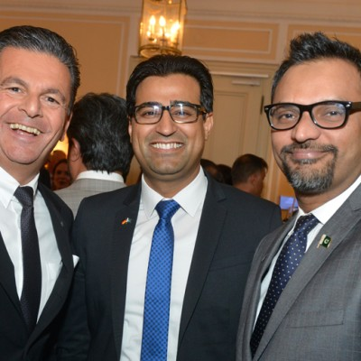 Consul Dr. Poetis, CEO POWERGROUP, Murad Mehmood and Mashood Khan, Director Production Mehran Commercial Enterprises.