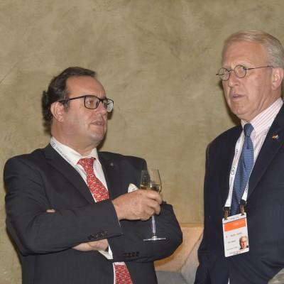 Helmut Fluhrer, Founder & CEO WeatherTec Services GmbH (left) with August von Joest
