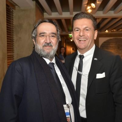 Dr. Ingo Friedrich, former Vice-president of the European Parliament and Innegrit Volkhardt, Managing Director, Hotel Bayerischer Hof
