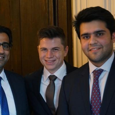 Murad Mehmood, Pericles Poetis and Salman Sohail Yasin, Director World Wide Group