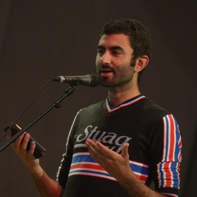 Wassem presenting his poetry – July 2015