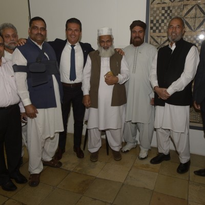 Consul Dr. Poetis with Imam Ashraf and other respected Pakistanis at the event – July 2015