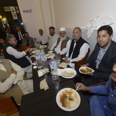 Consul Dr. Poetis with respected Pakistani guests at the Iftar dinner – July 2015