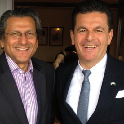 Consul Dr. Poetis, CEO POWERGROUP, with Shahid A. Kamal, Ex-Ambassador of the Islamic Republic of Pakistan