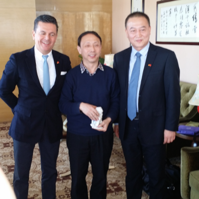 Consul Dr. Poetis meeting with Mr. Gao District Mayor Gaocheng