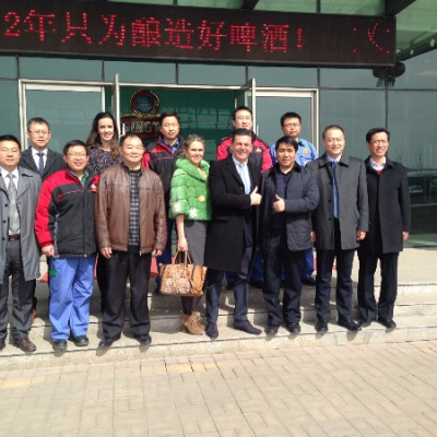 Consul Dr. Poetis visit to Tsingtao Brewery in Gaocheng Industry Park