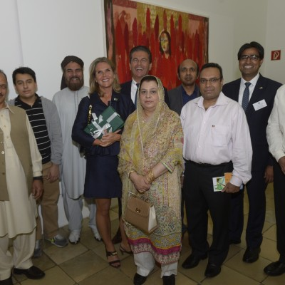 Consul Dr. Poetis and Mrs. Poetis with respected Pakistani guests at the event – July 2015