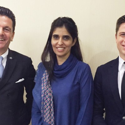 Consul Dr. Poetis, CEO POWERGROUP, with Ms. Naheed Memon, Chairperson Sindh Board of Investment and Pericles Poetis