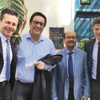 Consul Dr. Poetis, CEO POWERGROUP, with Sohail Yasin Suleman, World Wide Group and Muhammad Sajjad, Group Commercial Head, World Wide Group and Pericles Poetis