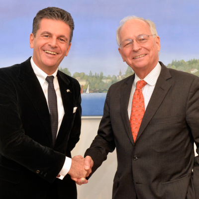 Ambassador Prof. Dr. Wolfgang Ischinger, Chairman of the Munich Security Conference and Consul Dr. Poetis
