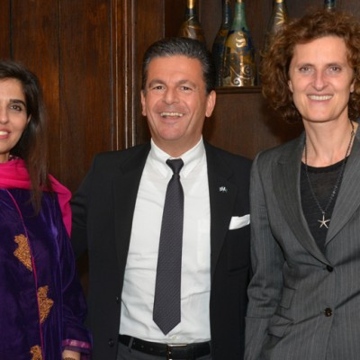 Naheed Memon, Chairperson Sindh Board of Investment, Consul Dr. Poetis, CEO POWERGROUP and Innegrit Volkhardt, Managing Director Hotel Bayerischer Hof