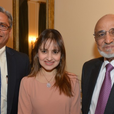 Syed Nadeem Ali Kazmi, CEO Validus Engineering (Pvt) Ltd., Mrs. Kazmi and Saifuddin Zoomkawala, Chairman and Board of Directors Allianz EFU Health Insurance Ltd.