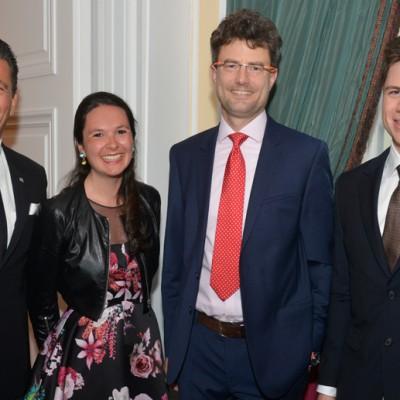 Consul Dr. Poetis, CEO POWERGROUP, Philomena Poetis, Peter Schwarzer FRANData and Pericles Poetis