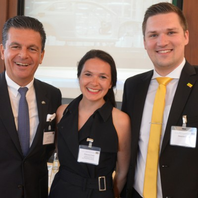 Consul Dr. Poetis, CEO POWERGROUP; Philomena Poetis and Alexander Reich, FDP Berchtesgadener Land.