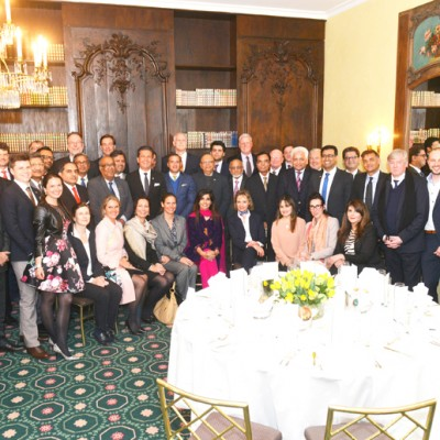 Group photo of the participants at the evening reception hosted by the Sindh Board of Investment and the Honorary Consulate of the Islamic Republic of Pakistan for Bavaria and Baden-Wuerttemberg on 21st April 2016