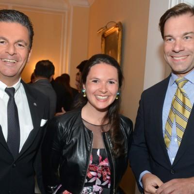 Consul Dr. Poetis, CEO POWERGROUP, Philomena Poetis and Helmut von Struve, CEO Siemens Pakistan