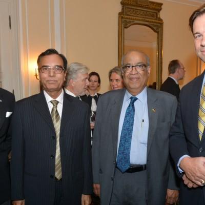 Consul Dr. Poetis, CEO POWERGROUP, Sajid Ali Qazi, Chief Executive Dadex Eternit Limited, Kamil Farooqi, Managing Director Technology Links LTD. and Helmut von Struve, CEO Siemens Pakistan